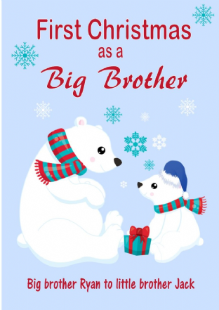 Personalised Big Brother to Little Brother Christmas Card Design 2